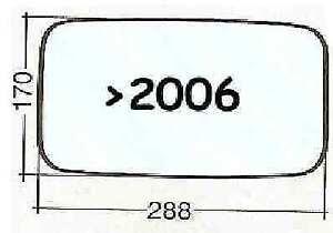 Vetro Dx Cromato Specchietto Retrovisore per Nissan Cabstar fino al 01.09.2006