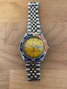 Pulsar Y563-6019 Diver Pepsi Vintage Seiko Dive Watch Day Date wristwatch