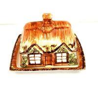 "Price Kensington ""Ye Ole Cottage Ware"" Covered Butter Dish Vintage 845007"