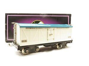 MTH 10-1089 Standard Gauge 514R Reefer Car White, Blue w/Nickel Trim LN