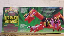 Mighty morphin power rangers red dragon thunderzord de 1993 de scellé cas
