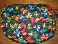 "womens Christian Dior bows toiletry bag pouch large makeup cosmetic case 12""x10"""