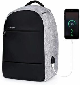 Anti-Theft Backpack Laptop Travel Large School Bag With USB Charging Port