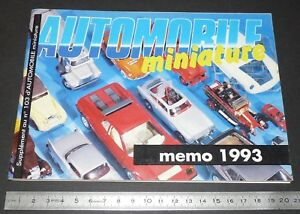 MEMO 1993 AUTOMOBILE MINIATURE MARQUES CLUBS ADRESSES PUBS