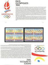 EMISSION COMMUNE FRANCE ESPAGNE JEUX OLYMPIQUES ALBERVILLE1992 / N° P2760 **