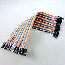 40x 20cm Female-Female jumper wire cable Kabel f Arduino Breadboard Drahtbrücken