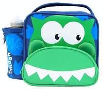 Smash 3D Dino Junior Lunch Bag/Box and 350ml Bottle Set | Dinosaur Lunchbox