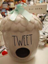 New Rae Dunn Tweet acorn birdhouse New