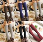 Womens Trendy Turn Up Rib Dot Wool Blend Long Knee High Stocking Boot Socks New