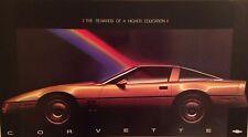 """Corvette""""The Rewards of a Higher Education"""" 1984 Original Car Poster Very Rare!"""