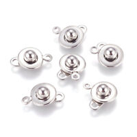 20 Sets 304 Stainless Steel Snap Clasps Trailer Hitch Ball & Socket Round 15.5mm