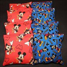MICKEY MOUSE 8 ACA Regulation Cornhole Bean Bags Corn Toss Quality Handmade!