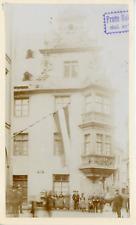 Allemagne, bâtiment typique, vue animée, ville à identifier   Vintage albumen pr