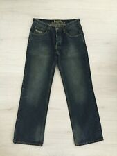 MENS BENCH STRAIGHT / RELAXED ? DARK BLUE BLEACHED JEANS W32 L32