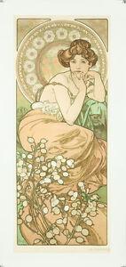 Vintage Style Alphonse Mucha Affiche Géant Autocollant Art Nouveau Topaze Bijou