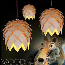 Modern Wood Pinecone DIY Pendant Light Lamp Ceiling Light Ceiling Fixture 8373HC