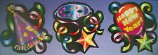 """3 X 12"""" HAPPY NEW YEAR CARD CUTOUT PARTY DECOR NYE EVE Christmas Colourful neon"""