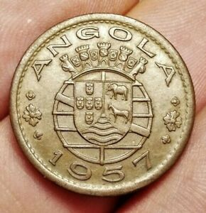 Portuguese Angola 50 centavos 1957 coin (aUNC!)