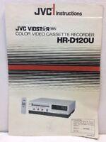 JVC HR-D120U Color Video Recorder Original VCR Owners Instructions Manual