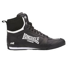 Lonsdale Kids Boxing Boots Juniors Mid Shoes Lace Up Padded Ankle Collar