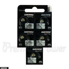 10 x Rayovac 335 Silver Oxide batteries 1.55V SR512SW V335 Renata 0% Mercury