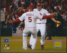 Albert Pujols & Rolen World Series St. Louis Cardinals 8x10 Photo With Toploader