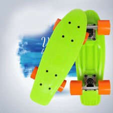 "17"" Skateboard Complete Retro Board Deck Pp Skate Board for Kids Youth Green"