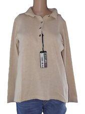 maglioncino donna beige lana merinos cashmere taglia it 44 l large