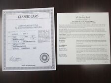 Danbury Mint Paperwork 1932 Ford Deluxe Roadster