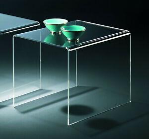 Beistelltisch - Acrylglas klar transparent - aus Satztisch einzeln B2