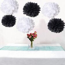 18x black white tissue paper pom poms wedding birthday anniversary venue decor
