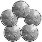 2017 Canada $5 1 oz. Silver Predator Series - Lynx - Lot of 5 Coins SKU45422