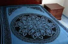 CELTIC Knot MANDALA Blue Wicca Altar Hippie TAPESTRY Wall Hanging Bedspread