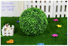 2*35CM ARTIFICIAL BALL TREE BOXWOOD TOPIARY OUT/INDOOR FAUX BUXUS BALLS DECOR