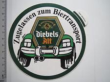 Aufkleber Sticker Diebels Alt Biertransport Decal (M1977)