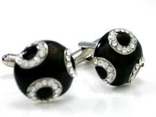 Enamel & Cubic Crystal Cuff Links cufflinks #C-191