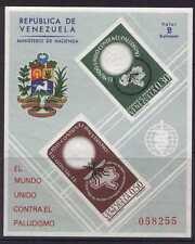 Venezuela C819a MNH Insects, Malaria Eradication, Medicine, Crest, Map