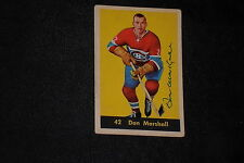 DON MARSHALL 1960-61 PARKHURST SIGNED AUTOGRAPHED CARD #42 CANADIENS