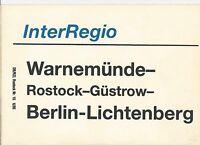 Zuglaufschild InterRegio Warnemünde- Berlin- Lichtenberg