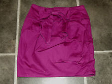 "Falda señoras DOROTHY PERKINS Púrpura UK 10 EUR 38 frontal diseño de arco cintura 28"" 71 Cm"
