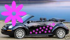 26 Flor Rosa Hueco centro Daisy. automóvil Pegatinas.