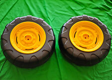2 Tires -  John Deere Power Pull / Loader Tractor Rear Wheel Tire Set Peg Perego