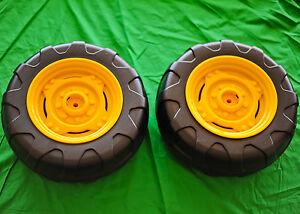 2 Tires -  John Deere Power Pull / Loader Tractor Rear Wheel Tire Set Peg Perego