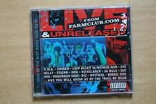 Various ‎– Live & Unreleased From Farmclub.com - Hip Hop, Rock, 2002 (Box C121)