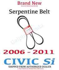 Genuine OEM Honda Civic Si Drive Belt 2006-2011 Serpentine 31110-RRB-A01