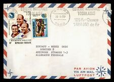 DR WHO 1972 TOGO LOME SLOGAN CANEL AIRMAIL TO GERMANY SPACE  f94874
