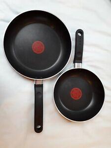 Pair Tefal Non-stick Frying Pans 23cm & 19cm New, Unused