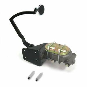 32 Ford Manual Brake Pedal kit Disk/Disk3in Chr Pad rod frame mount master