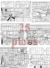 25 Peanut Scale Digital Full Size Plans & building notes on a Cd series I