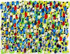NEW YORK CITY MARATHON abstract modern art painting oil contemporary